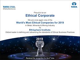 Golden Navratna Result Chart Tata Steel Named One Of The 2019 Worlds Most Ethical