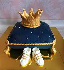 Royal Themed Cake Blue And Gold Royal Baby Shower Cake White Shower