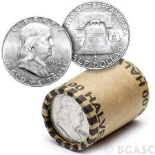 90 Silver Franklin Half Dollar Roll 20 Coins 90 Percent Silver