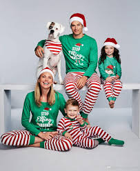 Christmas Pajamas Family Matching Clothes Sets Father Mother Daughter Son Outfits Letter Top+Stripe Pants Mom Dad And Baby