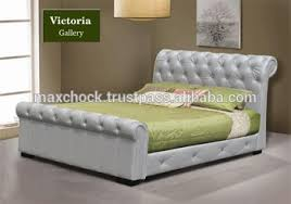 upholstered leather sleigh bed. Carson Diamond Tufted Upholstery Sleigh Bed Upholstered Leather