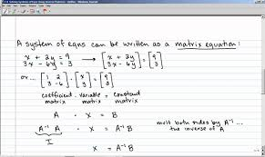 solving systems of equations using inverse matrices calculator