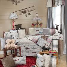 baby boy vintage airplane bedding