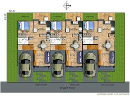 plans modern row houses design plans house home indian floor