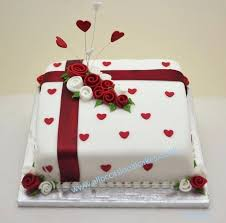 40th Wedding Anniversary Cake Ideas Red Accents Can Decorate A