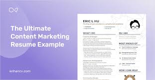 Creative Marketing Resume Content Marketing Resume Example And Guide For 2019