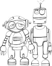 Small Picture Space coloring book pages printable robots coloring book pages