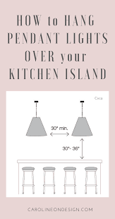 how to hang pendant lights over kitchen island pin