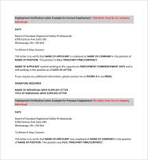 18 Employment Verification Letter Templates Download For Free ...