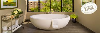 large freestanding luxury bathtub