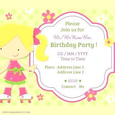Childrens Party Invitation Template Invitation Cards Online Free