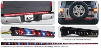 rampage page 32 the rampage truck mini truck and suv tailgate light bar is designed to fill the recessed space between the tailgate and bumper and is easily installed