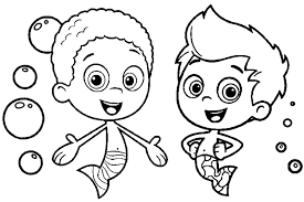 Small Picture Bubble Guppies coloring pages overview with great sheets