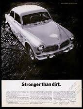 volvo 122 1967 volvo 122 car photo stronger than dirt vintage print ad