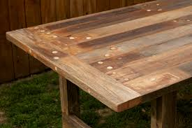 impressive reclaimed wood rectangular dining table almost affordable