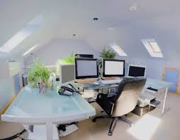 loft home office. Low Attic Loft Designed Into Home Office : Design Ideas N