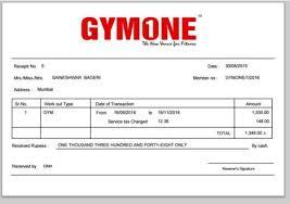 12 Gym Membership Receipt Samples Templates Pdf Word