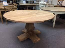 montego 135cm round hampton style pedestal solid hardwood timber dining table