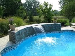 Inground Pool With Waterfall Pool Waterfall Ideas Waterfalls The