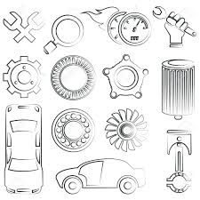 Car parts drawing
