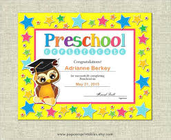 Promotion Certificate Template Graduation Certificates Word Kindergarten Promotion Certificate