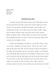 final essay defend deaf culture