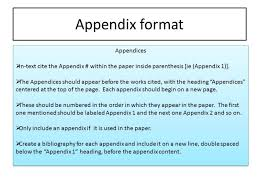 how to write an appendix for a research paper mla co from title page to appendix and works cited ppt online