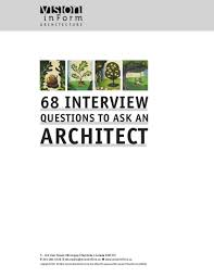 s vision in form 68 interview questions to ask an architect