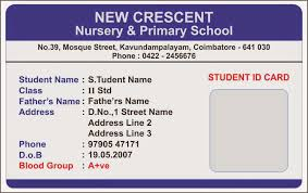 Identity Card Format For Student Id Card Coimbatore Ph 97905 47171 July 2014