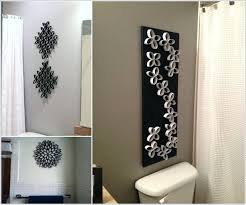 guest bathroom wall decor. Wall Decorating Ideas For Bathrooms Create A Unique Art With Paper Roll Tubes Guest Bathroom Decor
