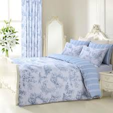 details about blue grey fl reversible french toile duvet set bedding quilt cover all sizes