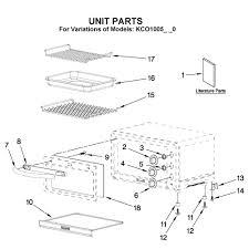kitchenaid kco1005 parts diagram kitchenaid toaster oven parts