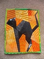 Paper Pieced Black Cat Quilt Block | FaveQuilts.com &  Adamdwight.com