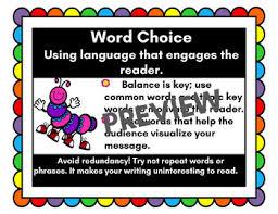 Word Choice Writing Trait Anchor Chart
