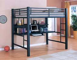 full size of metal loft bed with desk bunk twin combo d
