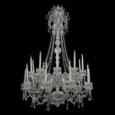 a large george iii style cut glass twenty light chandelier
