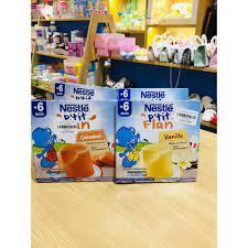 SẴN HÀNG] Bánh Flan Nestle - Pháp Cho Bé Từ 6 Tháng Siêu Ngon ( Lốc 4 Hộp)  tại Hòa Bình