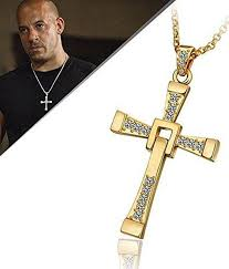 caratcube fast and furious vin sel inspired austrian crystal gold cross pendant for men