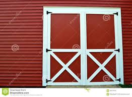 red and white barn doors. Red Barn Doors And White E