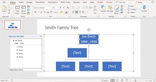 Inserting Organization Chart In Powerpoint 2007 Create Family Trees Using Powerpoint Organization Chart
