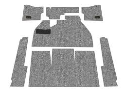 carpet kit. standard vw front carpet kit, charcoal loop, w/ footrest, beetle sedan 1958 kit n
