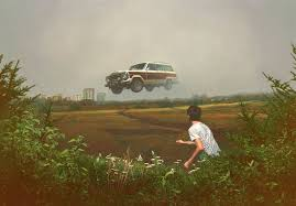 recent realism paintings of fabricated american landscapes by alex roulette
