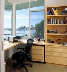 small home office furniture ideas. Beautiful Small Small Home Office Design With Large Windows And Built In Furniture To Home Office Furniture Ideas H