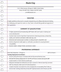 4 Sap Trainer Resume Templates Examples