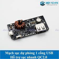 Mạch Pin dự phòng 1 cổng USB 2 chiều hỗ trợ sạc nhanh QC2.0/3.0 - đầu vào  MicroUSB QC2.0/3.0 [HTE QN2]