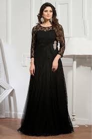 Designer Gown In Black Colour Net Semi Stitched Party Wear Gown In Black Colour Western