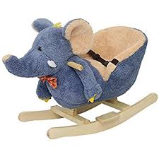 plush rocking chair. Modren Plush Kinbor Baby Kids Toy Plush Rocking Horse Little Elephant Theme Style Riding  Rocker With Sound On Chair I