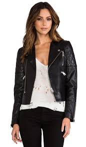 leather biker jacket leather biker jacket anine bing