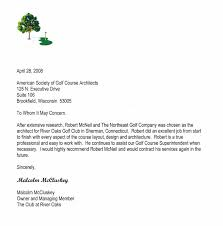 Recommendation Letter For Country Club Membership