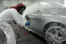 auto body repair painting. Unique Auto Technician Painting A Car On Auto Body Repair Painting U